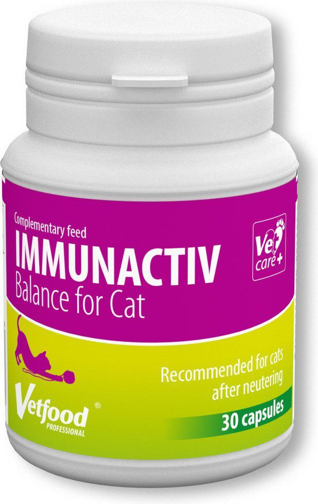 Vetfood Immunactiv Balance dla kota 30kaps 1