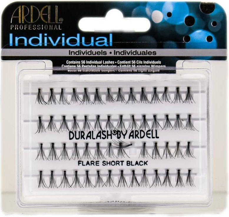 Ardell Individuals Short Black - kępki sztucznych rzęs 56 szt 1