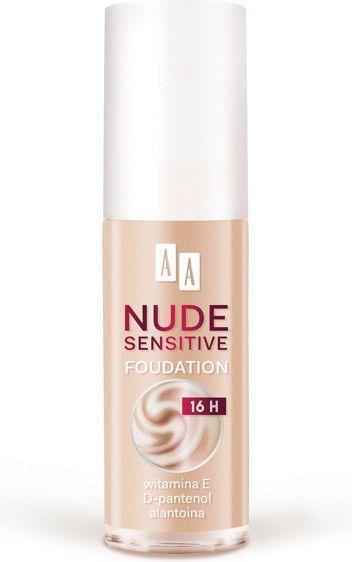 AA AA Make Up Nude Sensitive Podkład nawilżająco-łagodzący do twarzy 05 Soft Tan 30ml 1