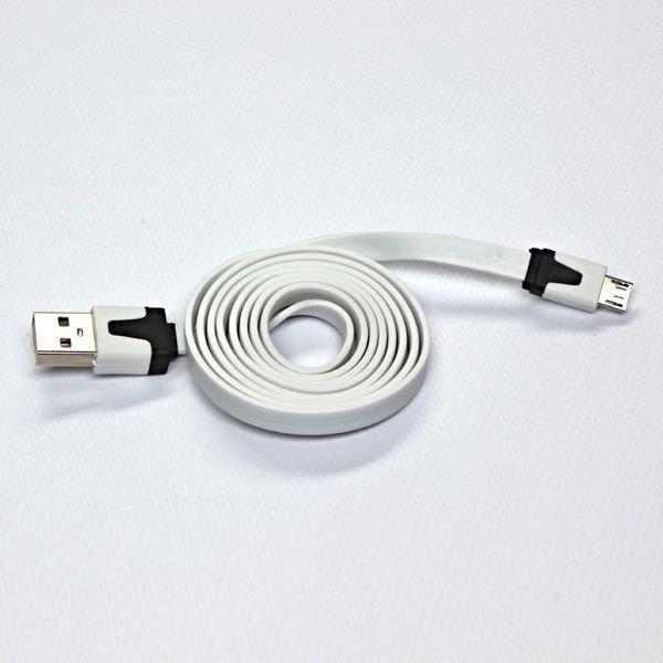 Kabel USB USB A -> Micro USB (M/M) Biały 1m 1
