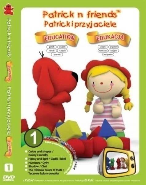 Zestaw 5 edukacyjnych kreskówek na płycie DVD - Patric (KIDS-0263) 1