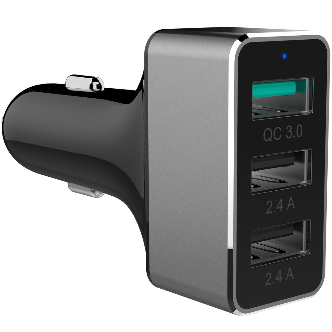 Ładowarka Unitek Samochodowa 2x USB + QC 3.0 42W (Y-P530C) 1