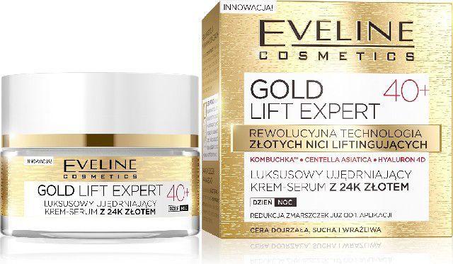 Eveline Gold Lift Expert 40+ Krem-serum ujędrniający na dzień i noc 50ml 1