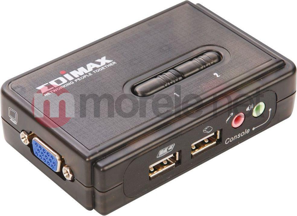 Przełącznik EdiMax (EK-UAK2) Przełącznik KVM 2xUSB, AUDIO+MIC, 2 x 1.8M odpinane kable 1