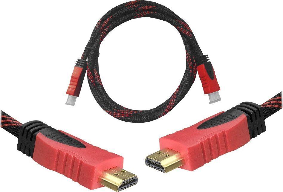 Kabel Lexton Kabel HDMI-HDMI 1,5m czerwony v1.4 blis - RTV002754 1