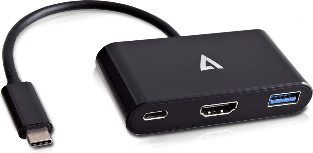 Adapter USB V7 USB C - HDMI (V7UCHDMI-HUB-BLK-1E) 1