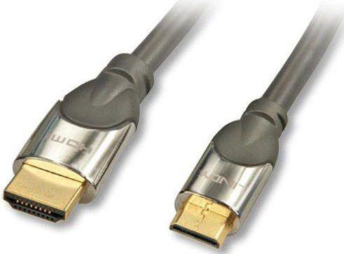 Kabel Lindy HDMI Mini - HDMI 2m srebrny (41437) 1