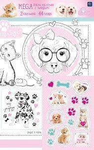 Interdruk Mega zestaw kreatywny A2 z naklejkami Puppy Sign - 207057 1