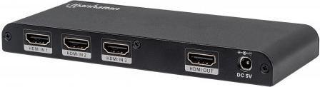 Manhattan Switch 3x HDMI, 4K, 3D, Czarny (207553) 1