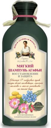 Babuszka Agafia Szampon delikatny do włosów farbowanych 350ml 1