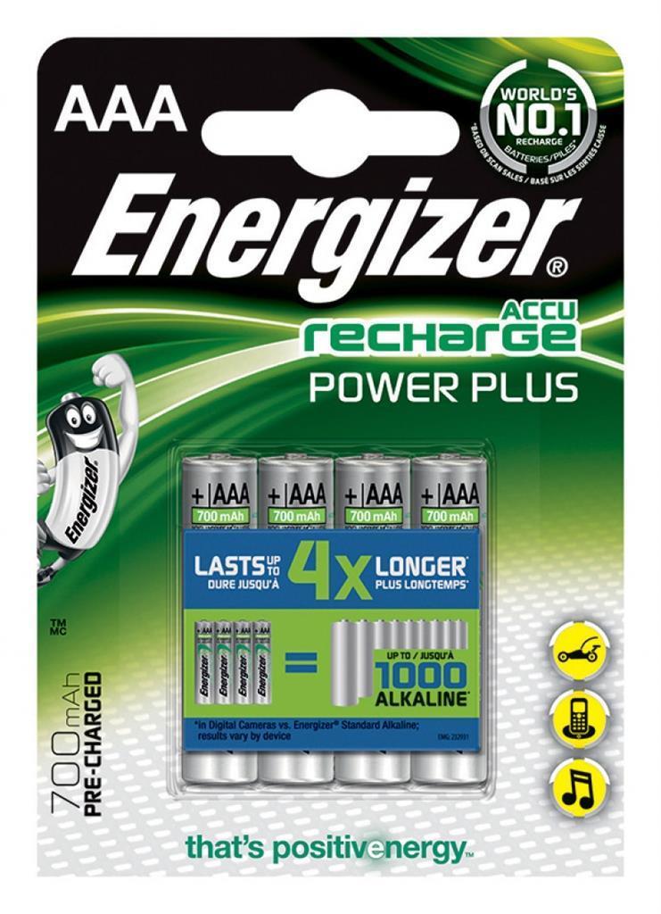 Energizer Akumulator Power Plus AAA / R03 700mAh 4szt. 1