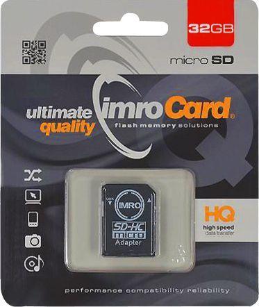 Karta Imro MicroSDHC 32 GB Class 10 UHS-I  (KOM000487) 1