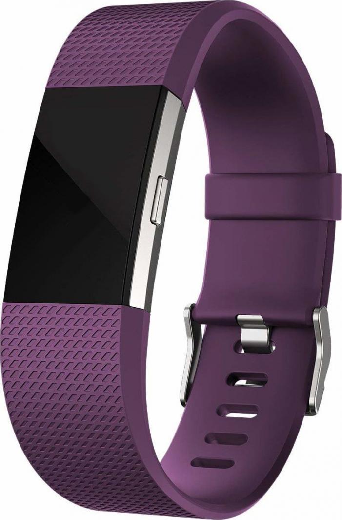 Smartband Fitbit Srebrny Fioletowy 1