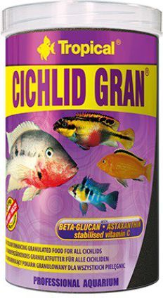 Tropical Cichlid Gran pokarm wybarwiający dla ryb 1000ml 1