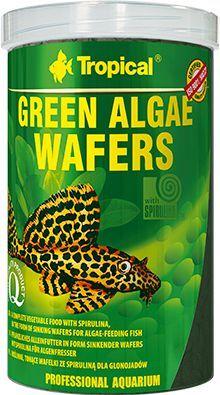 Tropical Green Algae Wafers tonące roślinne wafelki dla ryb 1000ml 1