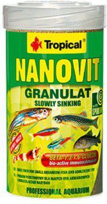 Tropical Nanovit Granulat pokarm podstawowy małych ryb 100ml 1