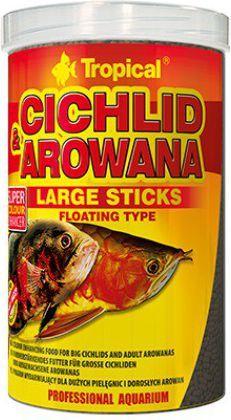 Tropical Cichlid & Arowana Large Sticks pokarm wybarwiający dla ryb 1000ml 1