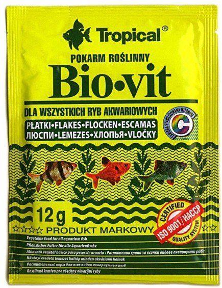 Tropical Bio-Vit pokarm roślinny dla rybek 12g 1