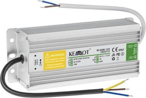 Kemot Zasilacz do sznura diodowego 60W 12V 5A IP67 (URZ0710) 1