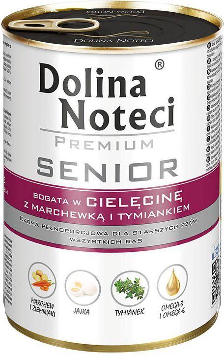 Dolina Noteci Premium Senior z cielęcina marchewką i tymiankiem 400g 1