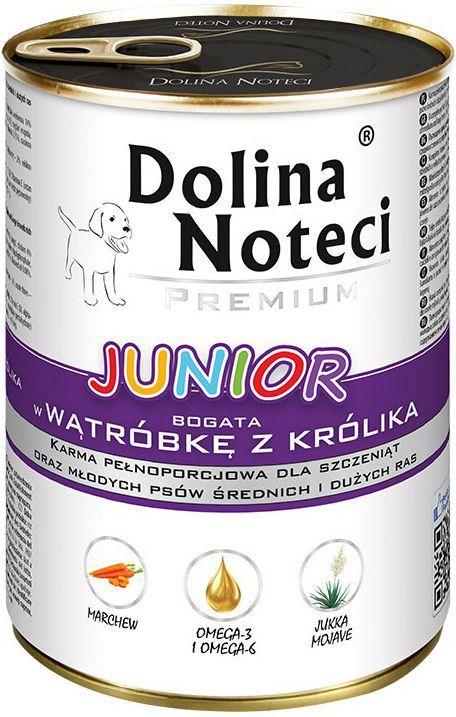 Dolina Noteci Premium Junior z wątróbką z królika 400g 1