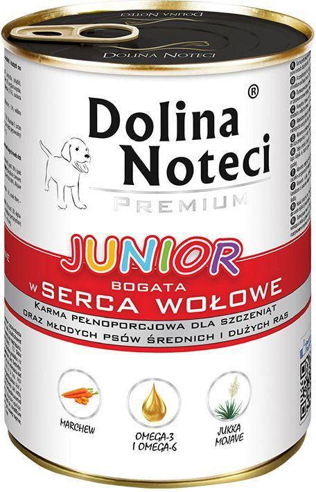 Dolina Noteci Premium Junior z sercami wołowymi 400g 1