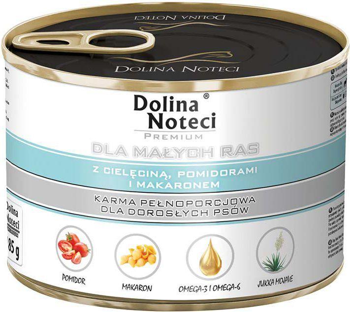 Dolina Noteci Premium dla małych ras z cielęciną pomidorami i makaronem 185 g 1