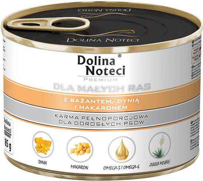 Dolina Noteci Premium dla małych ras z bażantem dynią i makaronem 185 g 1