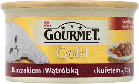 Gourmet Gold Kawałki w sosie z kurczakiem i wątróbką 85g 1
