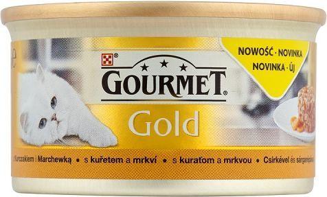 Gourmet Gold z kurczakiem i marchewką 85g 1