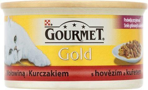 Gourmet Gold z wołowiną i kurczakiem 85g 1