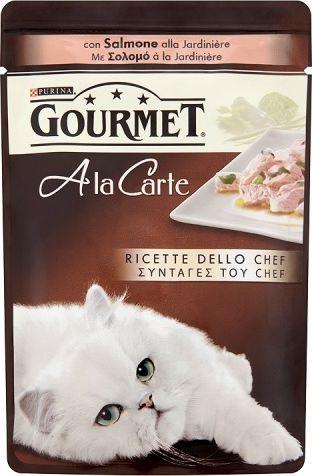 Gourmet A la Carte Z łososiem szpinakiem cukinią i zieloną fasolą 85g 1