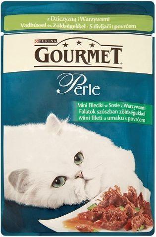 Gourmet Perle Mini fileciki w sosie z warzywami i dziczyzną 85g 1