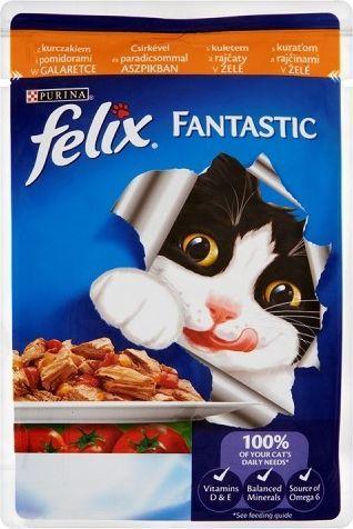 Felix Fantastic z kurczakiem i pomidorami w galaretce 100g 1