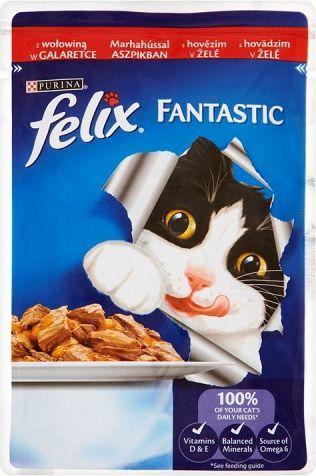 Felix Fantastic z wołowiną w galaretce 100g 1
