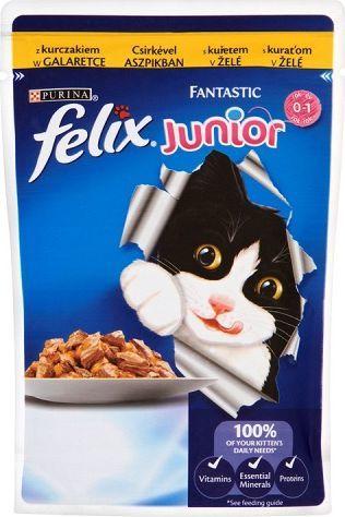 Felix Fantastic Junior z kurczakiem w galaretce 100g 1