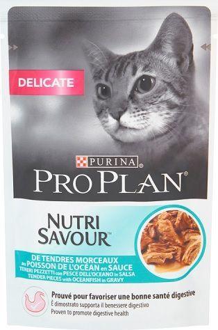 Purina Pro Plan Delicate Nutrisavour Ryba 85g 1