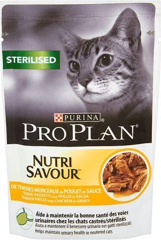 Purina Pro Plan Sterilised Nutrisavour Kurczak 85g 1
