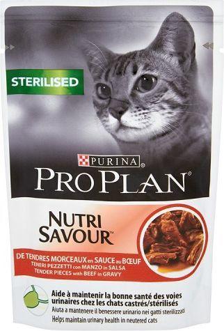 Purina Pro Plan Sterilised Nutrisavour Wołowina 85g 1