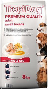 TropiDog Indyk z ryżem TropiDog Premium Adult Small Breeds 8kg 1