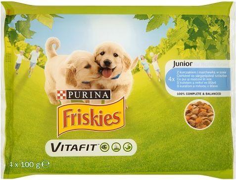 Purina Friskies Vitafit Junior z kurczakiem i marchewką w sosie 4x100g - 7613035343603 1