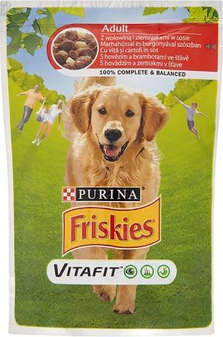 Purina Friskies Vitafit Adult z wołowiną i ziemniakami w sosie 100g - 7613035343948 1