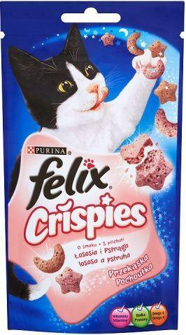 Felix Felix Crispies Łosoś Pstrąg 45g - 7613034749345 1