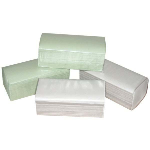 Papierowy ręcznik ZZ, 250 x 230mm, zielony, 20 x 250szt. jednowarstwowe, No Name 1