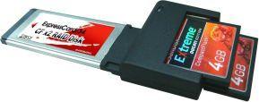 Czytnik Lycom Dual-CF ExpressCard/34 CF (EK-112) 1