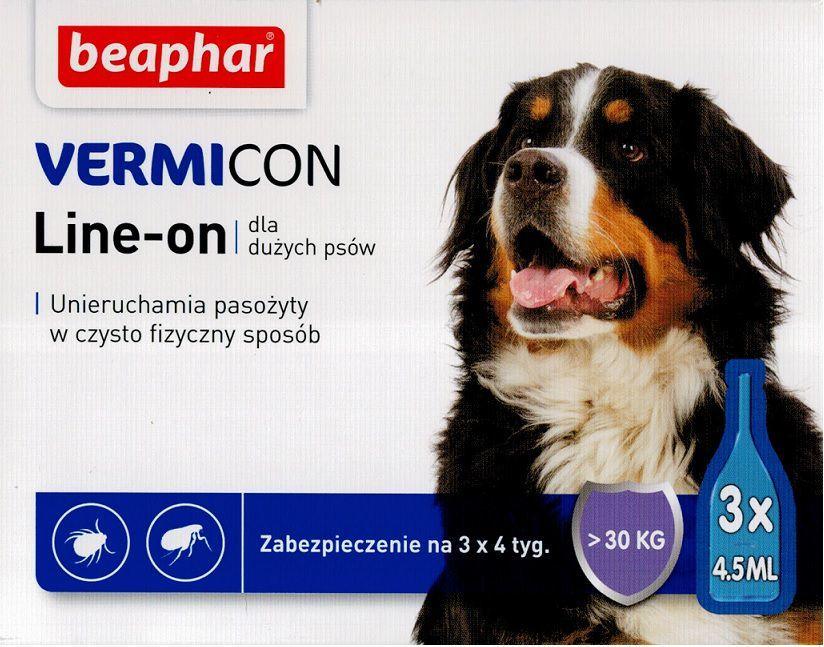 Beaphar Vermicon Dog L - Preparat na ektopasożyty dla psów >30 KG 1