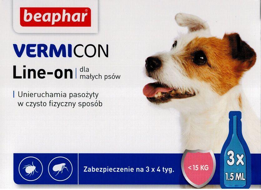 Beaphar Vermicon Dog S - Preparat na ektopasożyty dla psów do 15kg 1