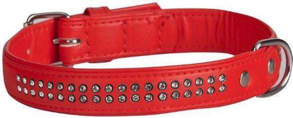 """Dingo obroża """"Glamour"""" szer. 22 mm x 53 cm red - 13943 1"""