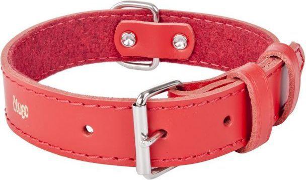 Dingo obroża skórzana podszyta filcem szer. 1,0 cmdł. 24 cm red - 13603 1