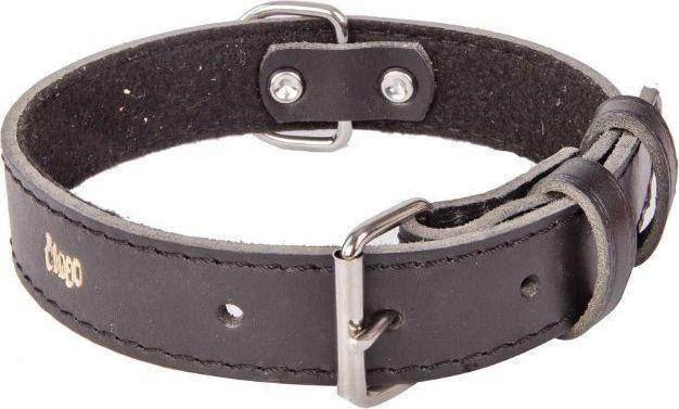 Dingo obroża skórzana podszyta filcem szer. 1,0 cmdł. 24 cm black - 13601 1
